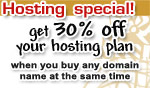 web hosting + domain bundle special