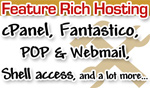 feature rich web hosting