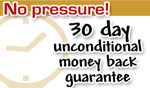 unconditional 30 day money back guarantee